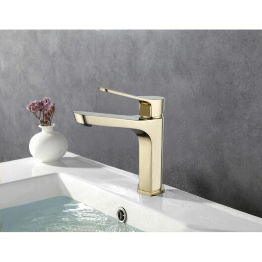 Lerma fürdőszobai mosdó csaptelep arany