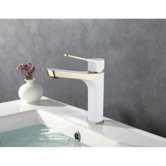 Lerma fürdőszobai mosdó csaptelep fehér-arany