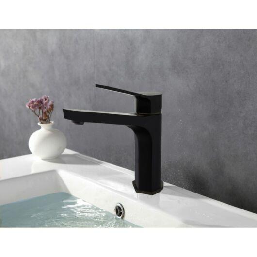 Lerma fürdőszobai mosdó csaptelep fekete