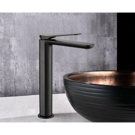 Largo magasított fürdőszobai mosdó csaptelep fekete