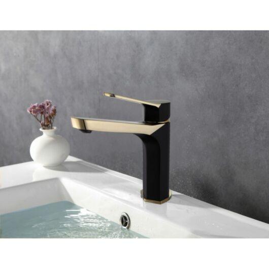 Lerma fürdőszobai mosdó csaptelep fekete-arany