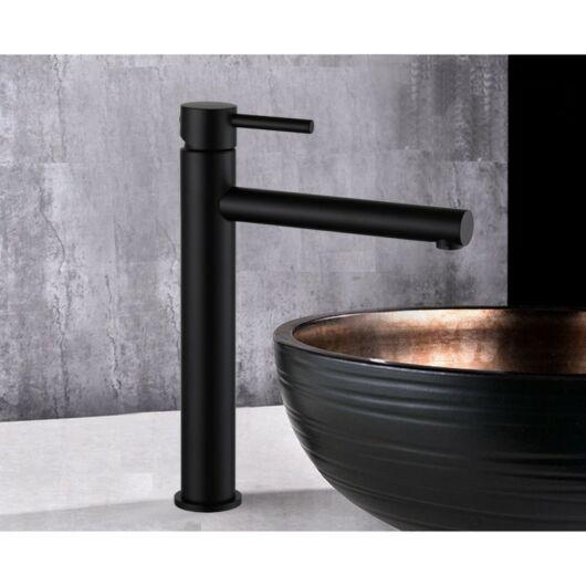 Elba magasított fürdőszobai mosdó csaptelep fekete