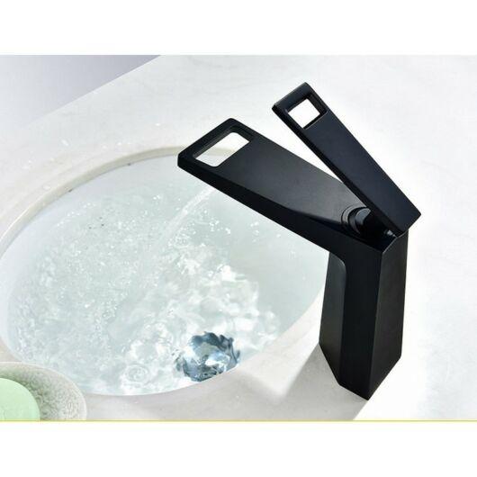 Topaz fürdőszobai mosdó csaptelep fekete