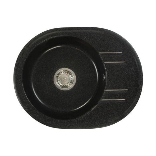 Bella mosogató szett 3 féle választható csapteleppel (Beta, Move, Steel) szifonnal fekete-szemcsés színben
