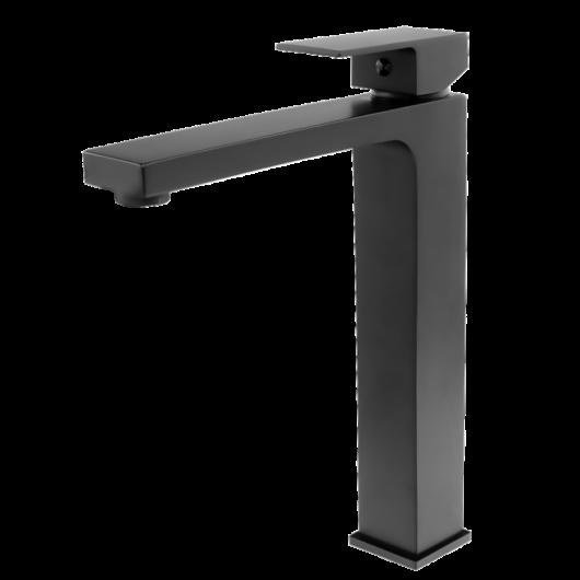 Cube magasított fürdőszobai mosdó csaptelep fekete