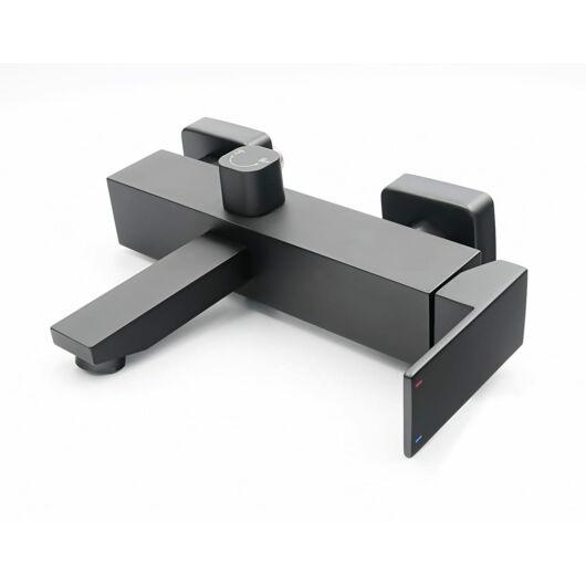 Cube fürdőszobai kádtöltő csaptelep matt fekete