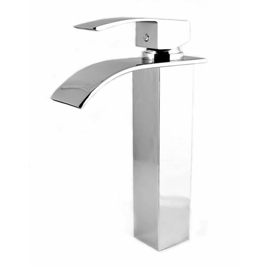 Elva magasított mosdó csaptelep vízesés alakú vízsugárral króm