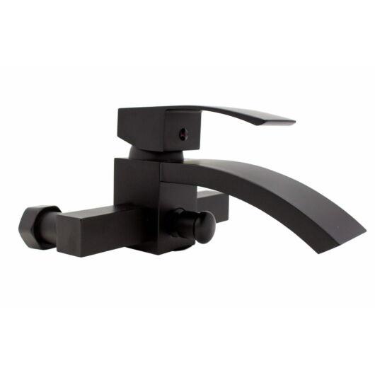 Kaskada fürdőszobai kádtöltő csaptelep fekete
