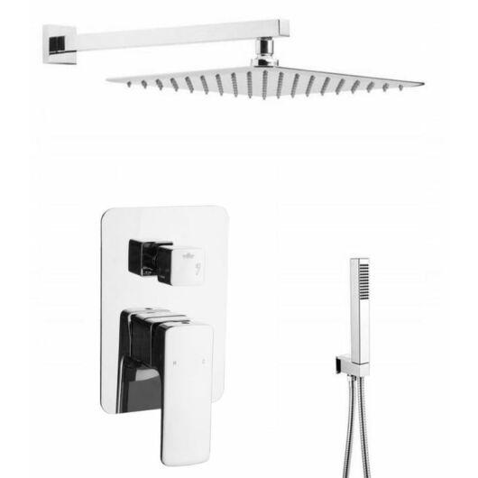 Zen6 fürdőszobai zuhanyszett beépíthető fali keverőcsappal és esőztető zuhanyfejjel króm