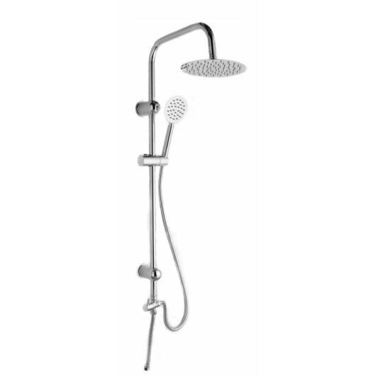 Zen2 fürdőszobai zuhanyszett Slim esőztető kerek zuhanyfejjel króm