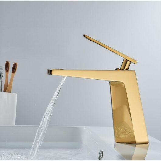 Topaz fürdőszobai mosdó csaptelep arany