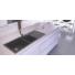 Kép 1/5 - A-POINT 180 kétmedencés csepegtetőtálcás gránit mosogató automata dugóemelő, szifonnal, fekete-szemcsés