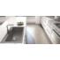 Kép 1/5 - A-POINT 60 egymedencés gránit mosogató automata dugóemelő, szifonnal, fekete-szemcsés