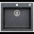 Kép 1/6 - MOJITO 60 egymedencés gránit mosogató automata dugóemelő, szifonnal, fekete-szemcsés fényes