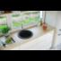 Kép 1/4 - BELFORT  kerek gránit mosogató, szifonnal fekete-szemcsés
