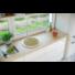 Kép 1/4 - BELFORT  kerek gránit mosogató, szifonnal szürke