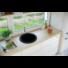 Kép 1/4 - BELFORT  kerek gránit mosogató, szifonnal fekete