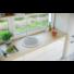 Kép 1/4 - BELFORT  kerek gránit mosogató, szifonnal fehér