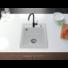 Kép 1/4 - Start Don egymedencés gránit mosogató automata dugóemelő, szifonnal, fehér
