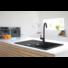 Kép 3/7 - Ava Soul gránit mosogató automata dugóemelővel, szifonnal, fekete