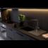 Kép 1/6 - Retto Long egymedencés gránit mosogató csepptálcával automata dugóemelővel, szifonnal, fekete