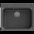 Kép 1/2 - Lille egymedencés gránit mosogató automata dugóemelő, szifonnal, fekete-szemcsés