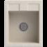 Kép 1/2 - Orlean egymedencés gránit mosogató automata dugóemelő, szifonnal, bézs