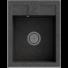 Kép 1/2 - Orlean egymedencés gránit mosogató automata dugóemelő, szifonnal, fekete-szemcsés
